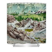 Ruins At Basgo Monastery Ladakh India Shower Curtain