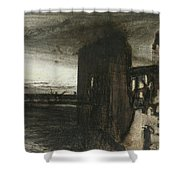 Ruins In A Landscape Shower Curtain