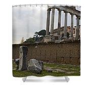 Ruins In The Roman Forum Rome Italy Shower Curtain