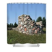 Ruins Of A Stone Silo Shower Curtain