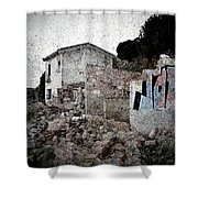 Ruins Of An Abandoned Farm House Shower Curtain