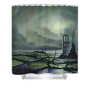 Ruins Of Cathedra Shower Curtain