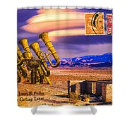 Ruins Of Fort James B. Polka And Prototype Gatling Tubas Shower Curtain