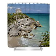 Ruins Of Mayan Temple Shower Curtain