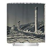 Ruins Of Roman-era Columns Shower Curtain