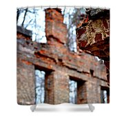 Ruins Of Sweetwater Manufacturing Company Shower Curtain