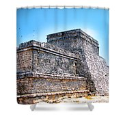 Ruins Of Tulum Mexico Shower Curtain