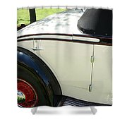1934 Bruster Rumble Seat Access Shower Curtain