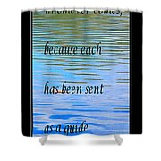 Rumi Quote 2 - Grateful - Guide Shower Curtain by Barbara Griffin
