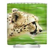 Run Cheetah Run Shower Curtain