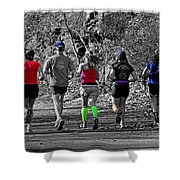 Run In The Park Shower Curtain
