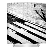 Runner's Shadow Shower Curtain