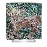 Running Beauty - Oil Painting Portrait Shower Curtain