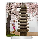 Running By The Tidal Basin Shower Curtain