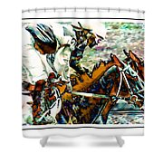 Running Chrome Shower Curtain