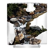 Running Down The Mountain Shower Curtain