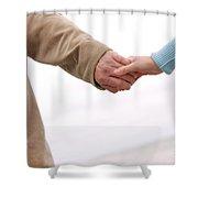 Running Hand-in-hand Shower Curtain