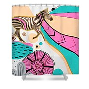 Running High Shower Curtain by Susan Claire