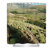 Running In Esquel, Chubut, Argentina Shower Curtain