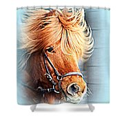 Running In The Fields, Waving My Golden Mane  Shower Curtain