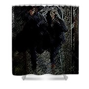 Running In The Shadows Shower Curtain