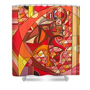 Running Of The Bulls Shower Curtain by Christopher Page