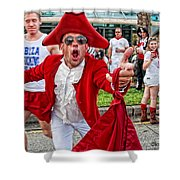 Running Of The Bulls New Orleans Matador Shower Curtain