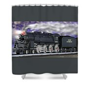 Running On Time Panoramic Shower Curtain