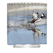Running On Water Shower Curtain
