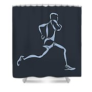 Running Runner12 Shower Curtain