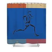 Running Runner2 Shower Curtain