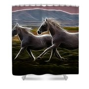 Running Together Shower Curtain