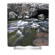Running Water Cave Shower Curtain