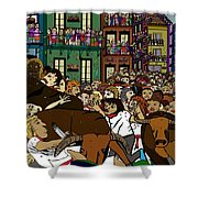 Running With The Bulls 1 Shower Curtain