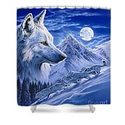 Running With The Pack Shower Curtain