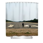 Runway 14 Shower Curtain
