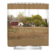 Rural Backstory Shower Curtain