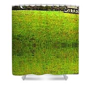 Rural Church Shower Curtain