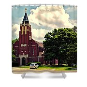 Rural Church Usa Shower Curtain