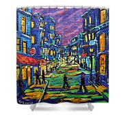 Rural City Scape By Prankearts Shower Curtain