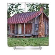 Rural Georgia Cabin Shower Curtain