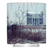 Rural Mansion Shower Curtain