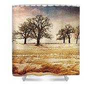 Rural Oaks Shower Curtain