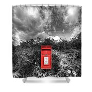 Rural Post Box Shower Curtain by Mal Bray