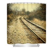 Rural Railroad Tracks Shower Curtain
