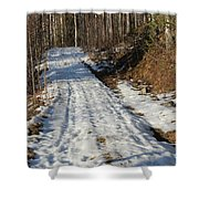 Rural Road In Eary Spring. Shower Curtain