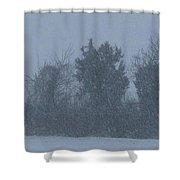 Rural Snowfall Shower Curtain