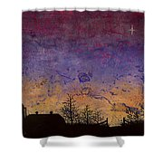 Rural Sunset Shower Curtain