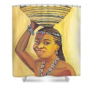Rural Woman From Cameroon Shower Curtain