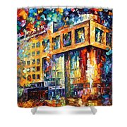 Rusbank Moscow Shower Curtain